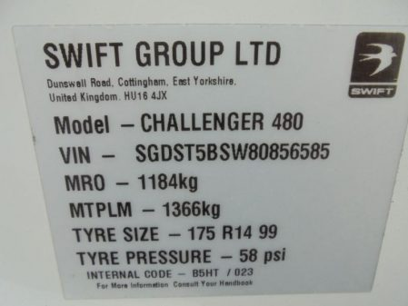 2008 Swift CHALLENGER 480 *